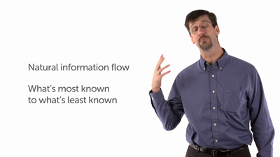 Natural Information Flow