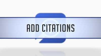 Adding Citations to a Bibliography