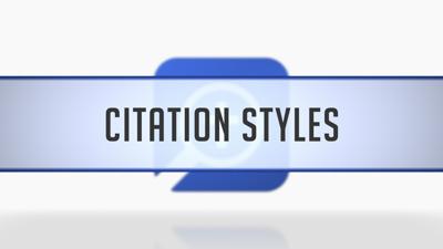 Setting Citation Styles