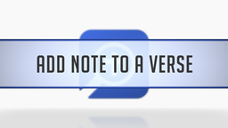 Adding a Note to a Verse Reference