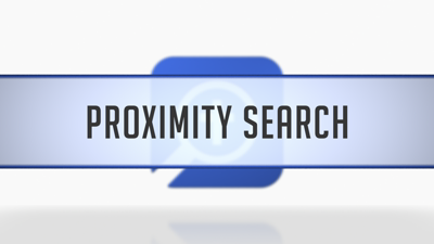 Doing a WITHIN × WORDS Proximity Search