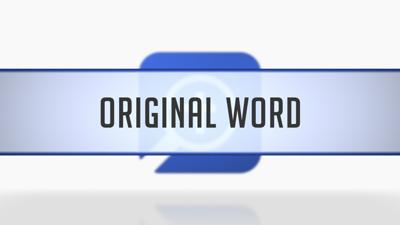 Context Menu Original Word Searches