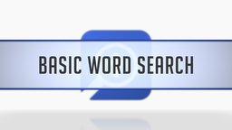 Basic Word Search