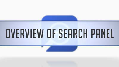 Overview of the Search Panel