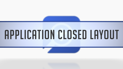 Application Closed Layout