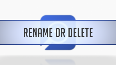 Renaming or Deleting Layouts