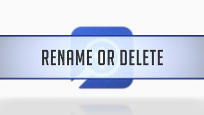 Renaming or Deleting Layouts