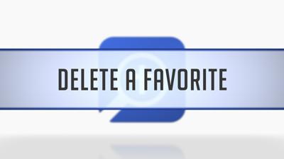 Deleting Favorites