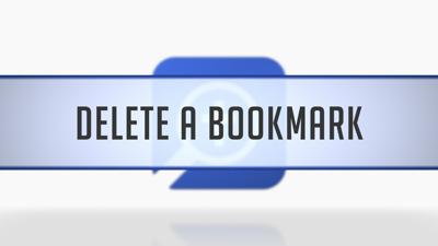 Deleting Bookmarks