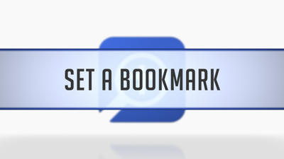 Setting Bookmarks