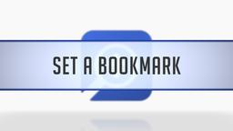 Setting Bookmarks