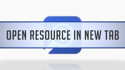 Opening Resources in a New Tab