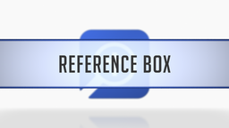 Using the Reference Box