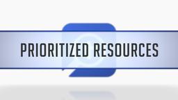 Prioritizing Resources