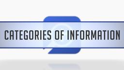 Categories of Information