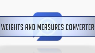 Weights & Measures Converter