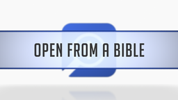 Opening the Timeline from a Bible