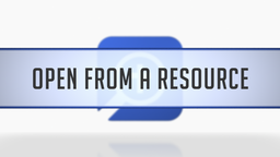 Opening the Timeline from a Resource
