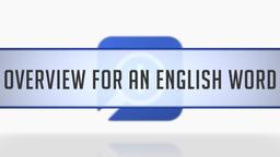 English Word Study