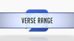 Verse Range for Bible Word Studies