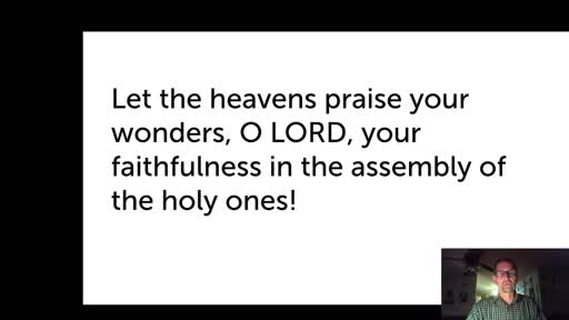 Tues.  Jan 19,  '21 Evening PPT Psalm 89