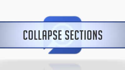 Collapsing Sections