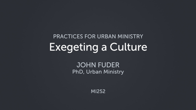 Exegeting a Culture