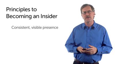 Becoming an Insider