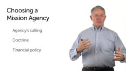 Choosing a Mission Agency