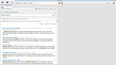 Basic Search for Articles on the Second Vatican Council