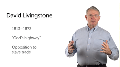David Livingstone to Africa