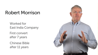 Robert Morrison to China