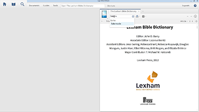 Researching Contextualization in the Lexham Bible Dictionary