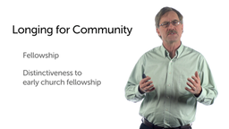 Lessons from the Early Church: Committed to Community