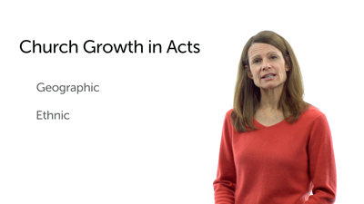 The Growth of the Gospel in Acts