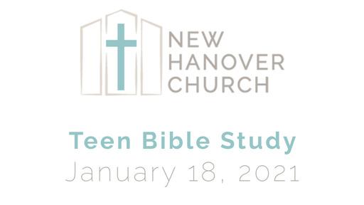 Teen Bible Study - I Peter 1 - January 18, 2021
