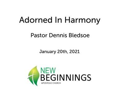 Jan 1/20 Adorned in Harmony
