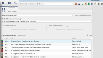 Creating and Searching a Custom Collection of Commentaries