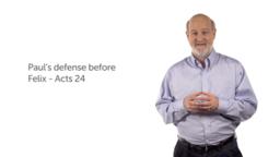 Paul's Defense before Felix