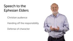 Paul's Speech to the Ephesian Elders