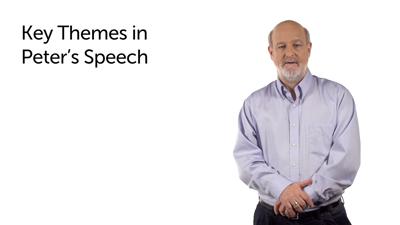 Peter's Speech Analyzed