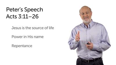 Peter's Temple Speech