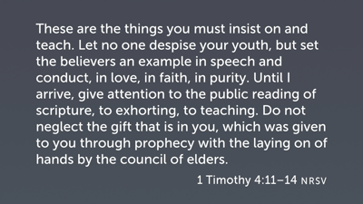 1 Timothy: Piety and Relationships