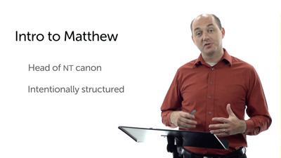 Matthew: Highly Structured, Literary, and Intentional Work