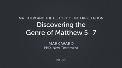 Discovering the Genre of Matthew 5–7