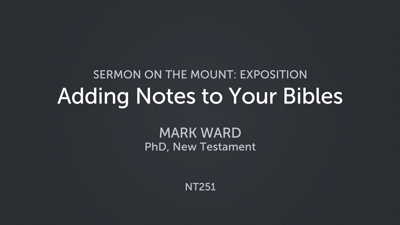 Adding Notes to Your Bibles