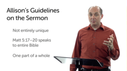 Guidelines for Reading the Sermon on the Mount