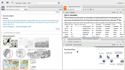 Studying Paul's Missionary Journeys with Timelines and the Atlas Tool