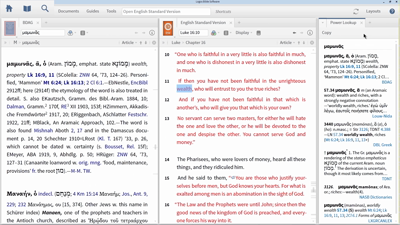 """Using the Power Lookup Tool to Find Lexical Entries on """"Mammon"""""""