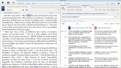 Using Sympathetic Highlighting to Identify and Search Greek Forms